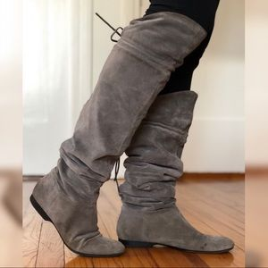 Enzo Angiolini Zakari Gray Suede Boots